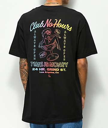 NoHours Club Black T-Shirt