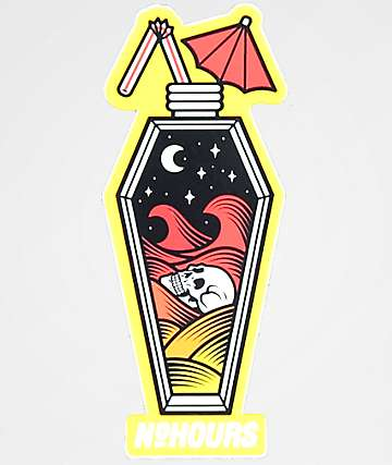 NoHours Coffin Juice Box Sticker