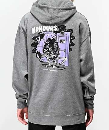 NoHours Death's Door Grey Hoodie
