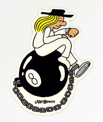 NoHours Eight Ball Sticker