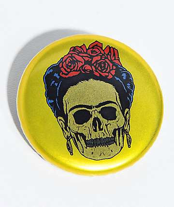 NoHours Frieda Skeleton Gold Button