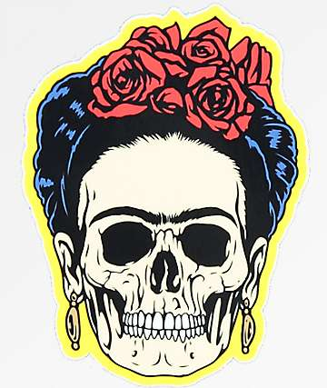 NoHours Frieda Skull Sticker