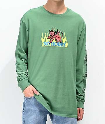 NoHours Lil Devil Green Long Sleeve T-Shirt