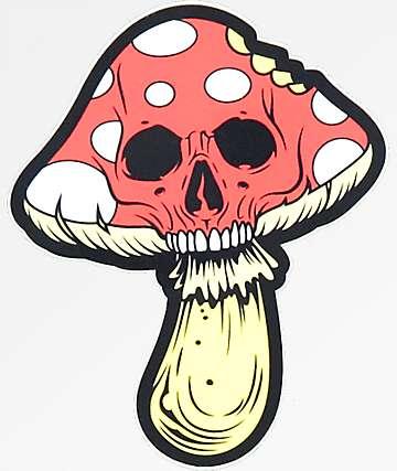 NoHours Mushroom Skull Sticker