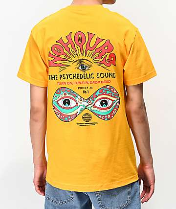 NoHours Psychedelic Sounds Gold T-Shirt