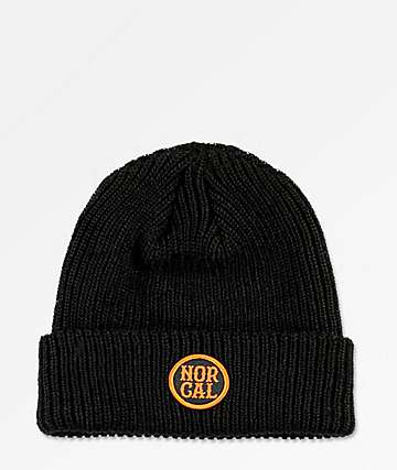 Nor Cal Admiral Patch Black Beanie