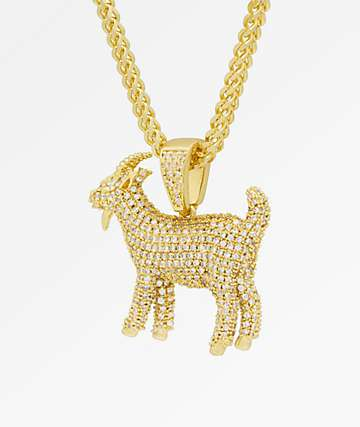 Notorious B.I.G. x King Ice The GOAT Iced Gold Pendant Necklace