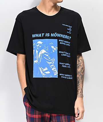 Nowhere New Wave Black T-Shirt