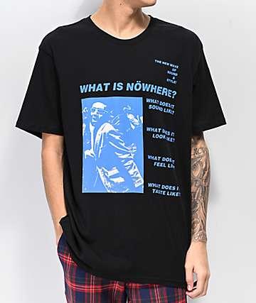 Nowhere New Wave Black T-Shirt