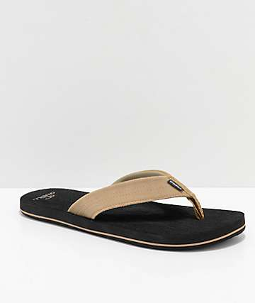 O'Neill Doheny Tan & Black Sandals