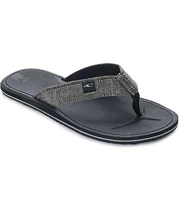 O'Neill Nacho Libre Charcoal Sandals