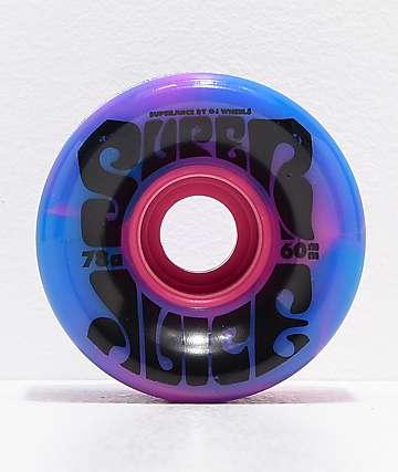 OJ Super Juice 60mm 78a Blue & Pink Cruiser Skateboard Wheels