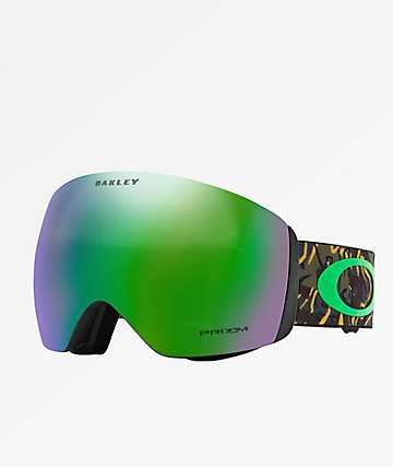 Oakley Flight Deck Prizm gafas de snowboard de camuflaje y jade