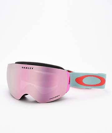 Oakley Flight Deck XM Arctic Surf Coral & PRIZM Pink Snowboard Goggles