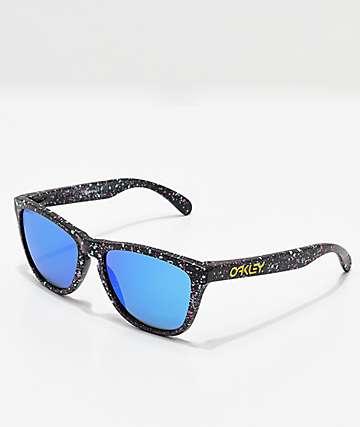 Oakley Frogskins Prizm gafas de sol polarizadas en negro salpicado
