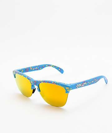 Oakley Frogskins gafas de sol azul claro con salpicaduras