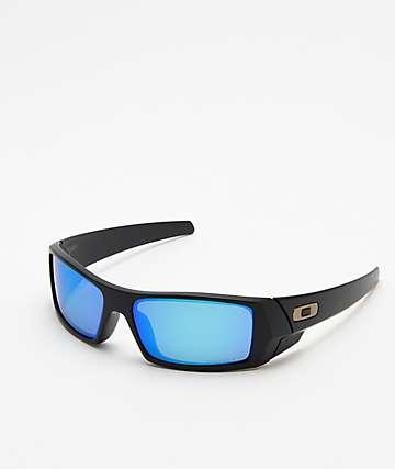 Oakley Gascan Matte Black Sapphire Polarized Sunglasses