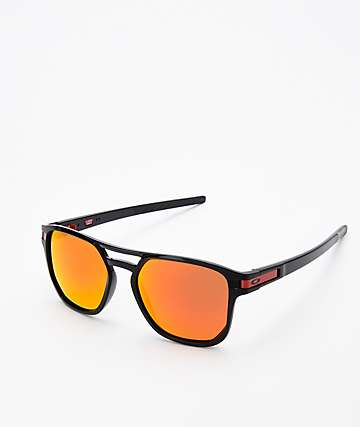 Oakley Latch Beta Polished Black & Prizm Ruby Sunglasses
