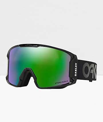 Oakley Line Miner gafas de snowboard negras y verdes