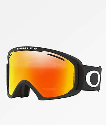 Oakley O Frame 2.0 XL Iridium gafas de snowboard en negro mate y fuego