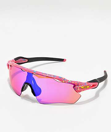 Oakley Radar Neon Pink Splatter Prizm Polarized Sunglasses