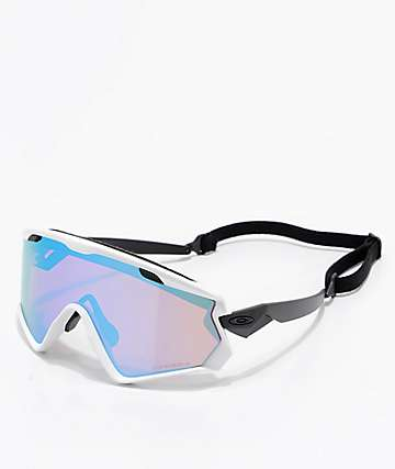 Oakley Wind Jacket 2.0  Matt White & PRIZM Snow Sapphire Iridium Sunglasses