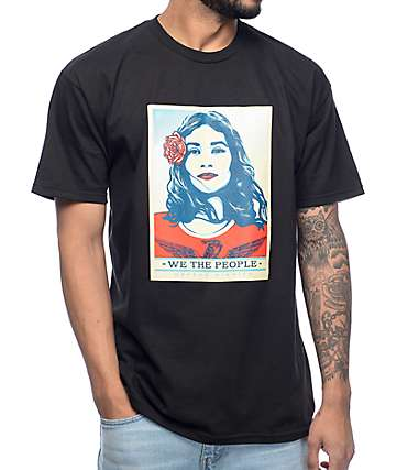"Obey ""We The People"" Defend Dignity Black T-Shirt"