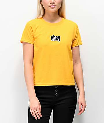 Obey 1990 Shrunken Gold T-Shirt