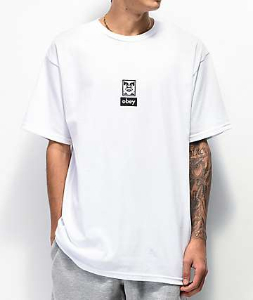 Obey 30 Years Of Dissent Icon Face White T-Shirt