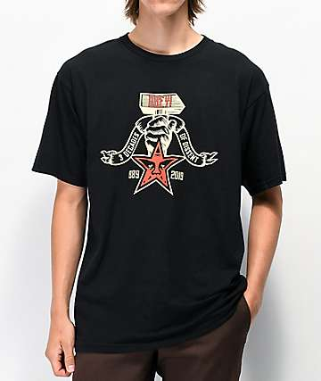 Obey 30 Years of Dissent 3 Decades Black T-Shirt