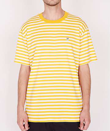 Obey 89 Icon Yellow & White Stripe T-Shirt