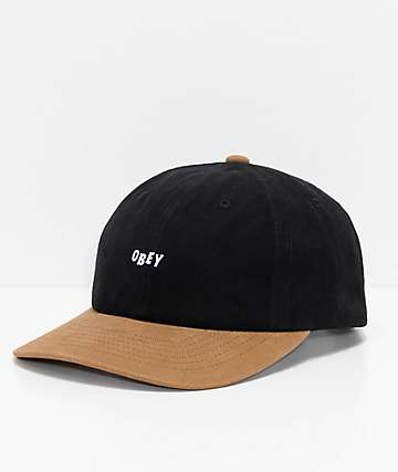 Obey 90s Jumble Black & Tan Snapback Hat