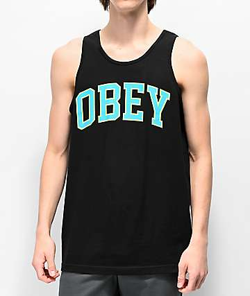 Obey Academic Black Tank Top