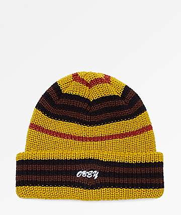 Obey Access Stripe Golden Palm Beanie