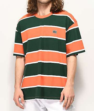 e9a10ff49771 Obey Acid Classic Orange & Green T-Shirt