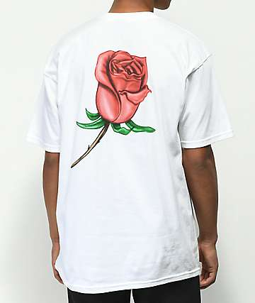 Obey Airbrushed Rose camiseta blanca