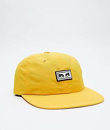 Obey Alchemy Yellow Strapback Hat