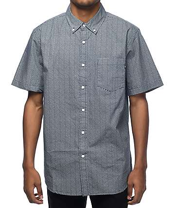 Obey Alder Navy Short Sleeve Button Up Shirt