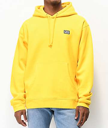Obey All Eyez Freesia Yellow Hoodie