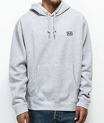 Obey All Eyez Heather Grey Hoodie