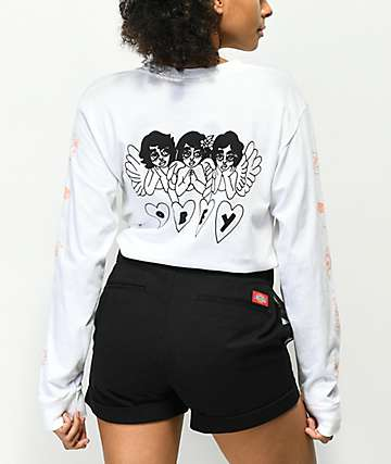 Obey Angels Marilyn Random White Long Sleeve T-Shirt