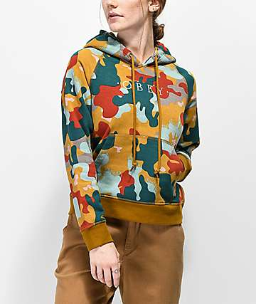 Obey Anna Drip Camo Hoodie