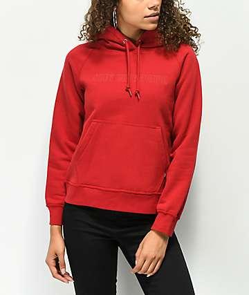 Obey Anna sudadera roja con capucha