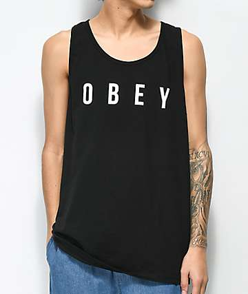 Obey Anyway Black & White Tank Top