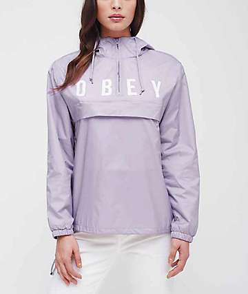 Obey Anyway Lavender Anorak Windbreaker Jacket