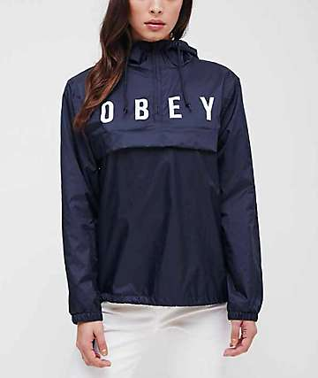 Obey Anyway Navy Anorak Jacket