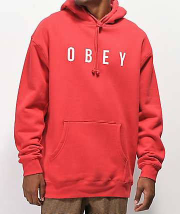 Obey Anyway Red Hoodie
