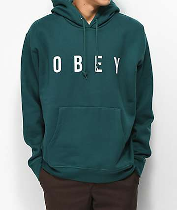 Obey Anyway Teal Hoodie