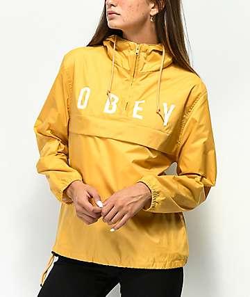 Obey Anyway chaqueta anorak amarilla