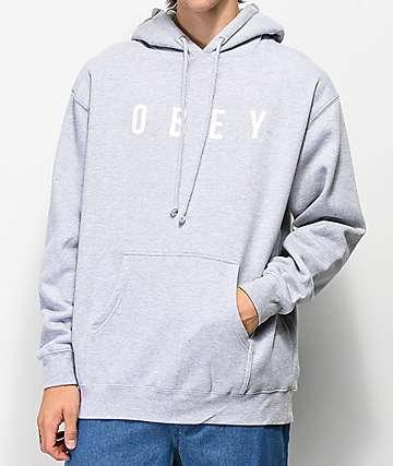Obey Anyway sudadera con capucha gris